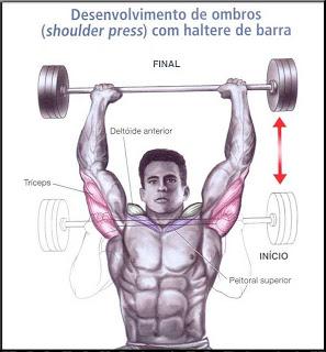 Desenvolvimento com Barra (ombro)