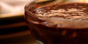 Pudim de chocolate com Whey Protein