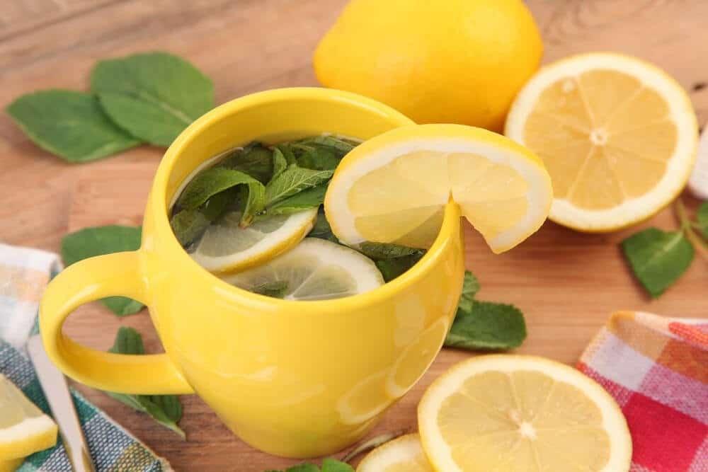 chá da casca de limão