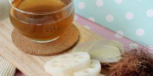 chá da raiz de lótus 1