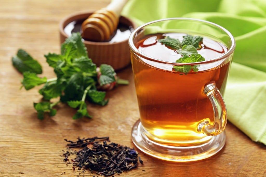 chá de hortela pimenta