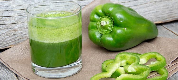 Benefício do Suco de Pimentão