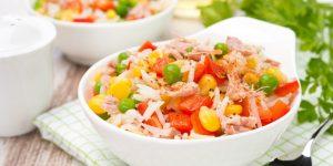 Salada Colorida com Peito de Frango