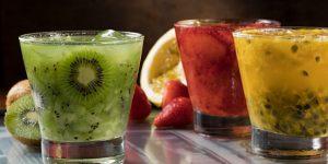 Suco de kiwi com Morango